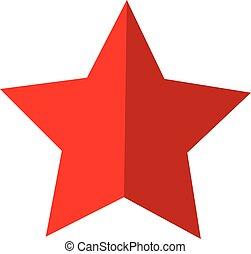 conception, concurrence, toile, arrière-plan., étoile, style., icône, blanc, ton, signe., reussite, site, ui., rouges, symbole., logo, &, app, plat