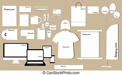 conception corporation, identité, gabarit