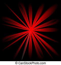 conception couleur, rouges, éclater