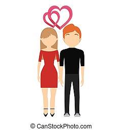 conception, couple, amour, jour, valentin