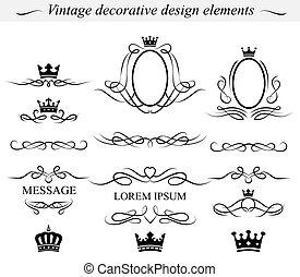 conception décorative, elements., vector.