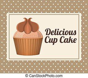 conception, délicieux, petit gâteau