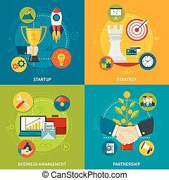 conception, entrepreneurship, 2x2, concept