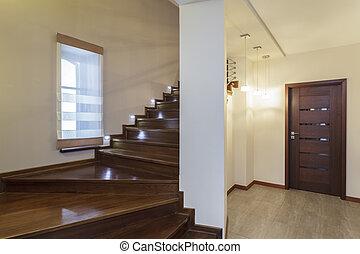 conception, -, escalier, grandiose