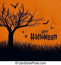 conception, festival, halloween, effrayant, fond, scène, heureux