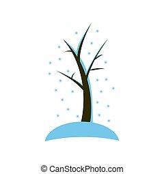 conception, hiver, merveilleux, arbre