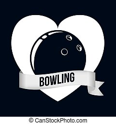 conception, icônes, bowling