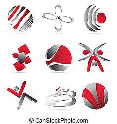 conception, icones affaires