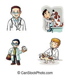 conception, illustration, docteur