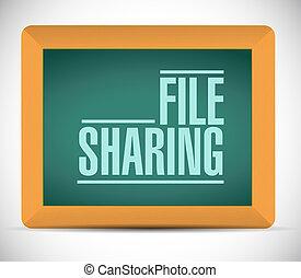 conception, illustration, fichier, message, partage