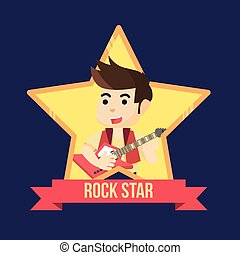 conception, illustration, rockstar