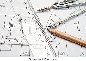 conception, ingénierie, outils, dessin