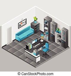 conception intérieur, bureau