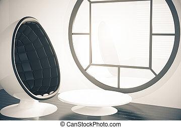 conception intérieur, futuriste