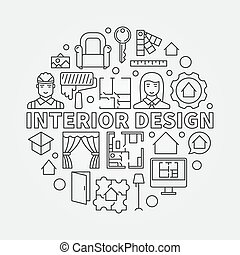 conception intérieur, illustration