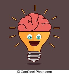 conception, isolé, ampoule, idée, créatif