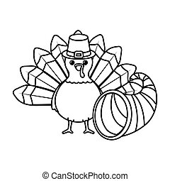 conception, jour, vecteur, turquie, thanksgiving