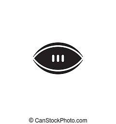 conception, logo, gabarit, vecteur, rugby
