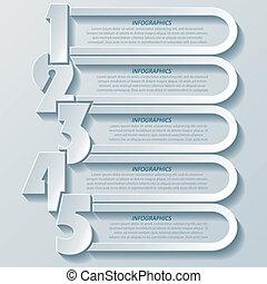 conception moderne abstraite, nombres, infographics