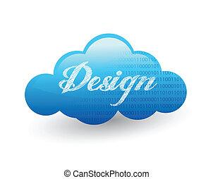 conception, nuage, illustration