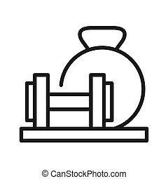 conception, poids, illustration, barre disques