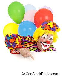 conception, pointage, clown, élément