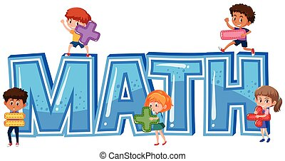 conception, police, mot, enfants, math