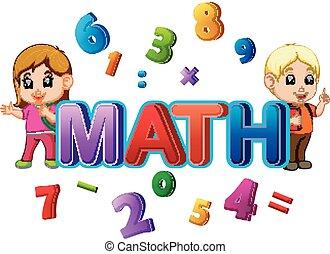 conception, police, mot, math, étudiant