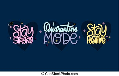 conception, positif, lettrage, séjour, fort, vecteur, mode, quarantaine