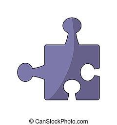 conception, puzzle, coloré, morceau, icône