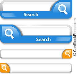 conception, recherche, barre, deux, types