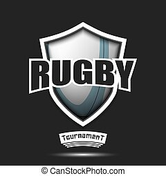 conception, rugby, logo, gabarit