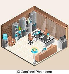 conception, salle, bureau