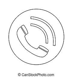 conception, téléphone, illustration, icône