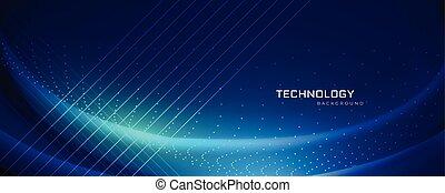 conception, technologie, bannière, effets, lumière
