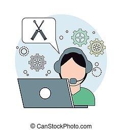 conception, technologie, centre, données