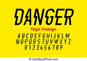 conception, tension, danger!, hight, style, police, moderne