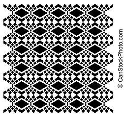 conception textile, vecteur, art, ethnique