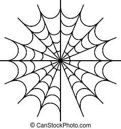 conception toile, araignés, icône