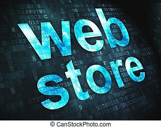 conception toile, magasin, fond, numérique, seo, concept: