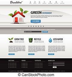 conception toile, site web, élément, gabarit