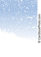 conception, ton, paysage, hiver