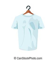 conception, tshirt, blanc, isolé, vecteur