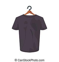 conception, tshirt, isolé, gris, vecteur