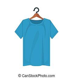 conception, tshirt, isolé, vecteur, bleu
