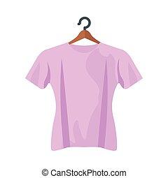conception, tshirt, isolé, vecteur, rose