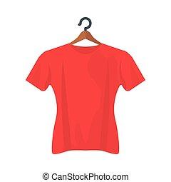 conception, tshirt, isolé, vecteur, rouges