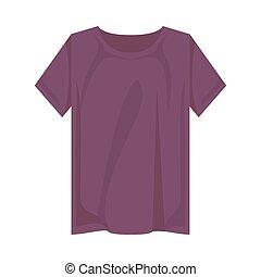 conception, tshirt, pourpre, isolé, vecteur