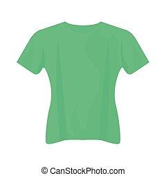 conception, tshirt, vert, isolé, vecteur