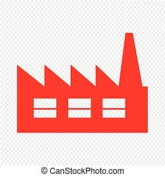 conception, usine, illustration, icône